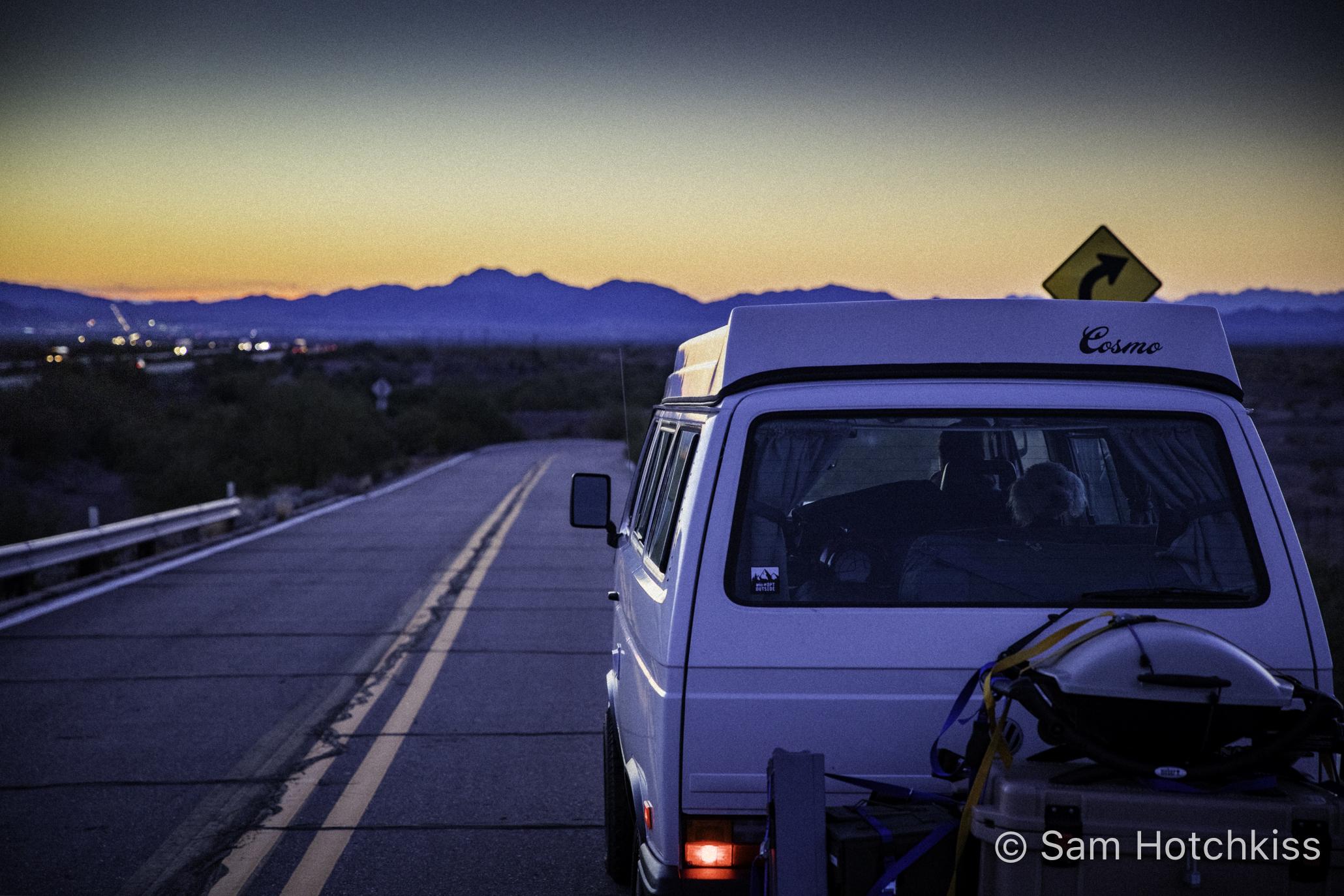 Vanagon on a back road