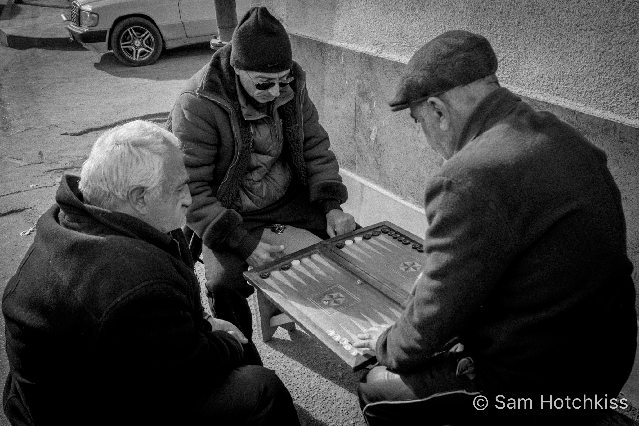 Sidewalk Backgammon