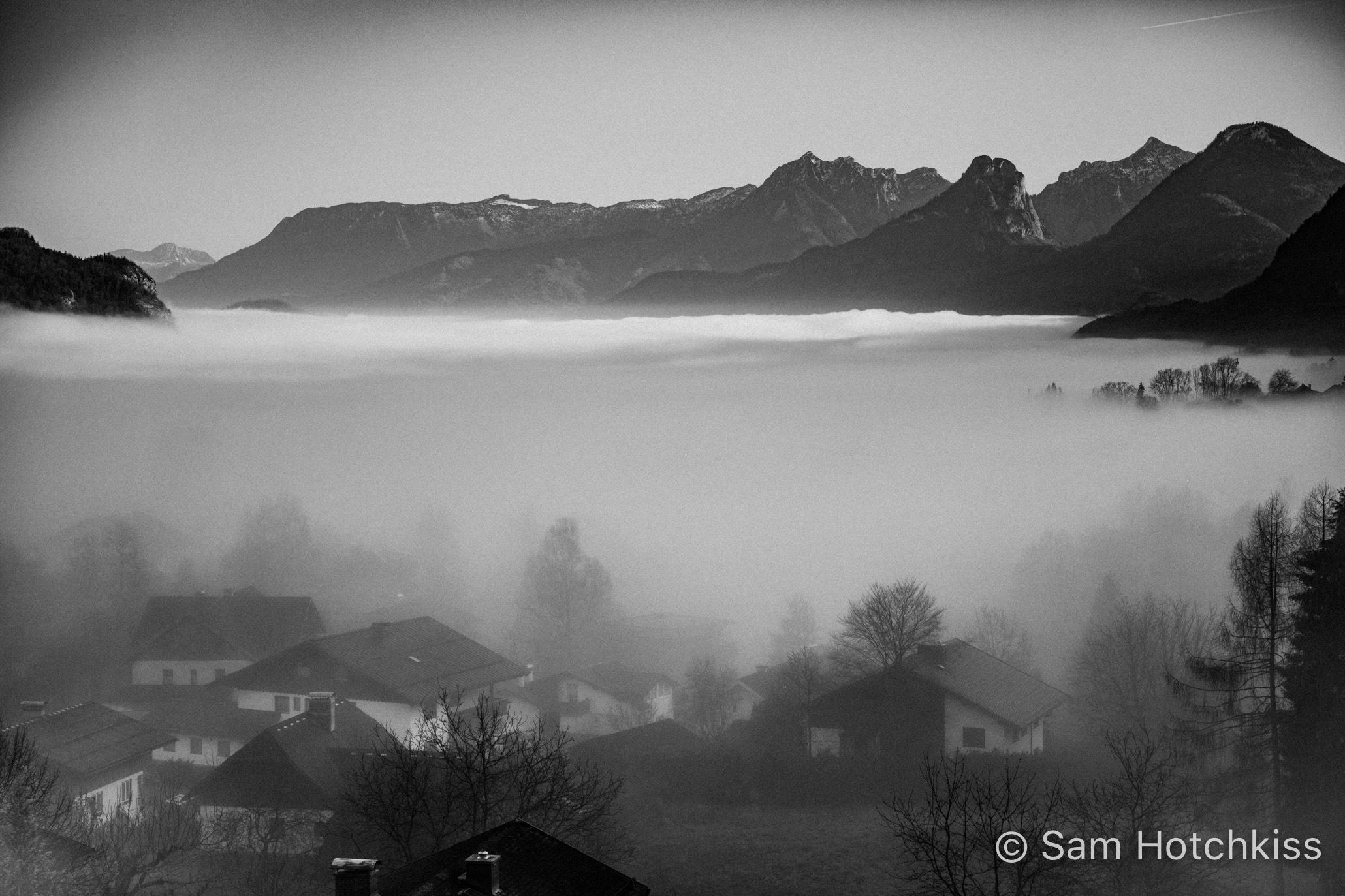 St. Gilgen, Austria, in the Clouds